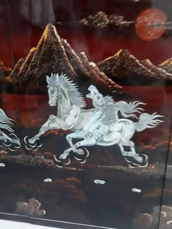 tranh sơn mài khảm trai Mã Đáo Thành Công còn đẹp 95%5