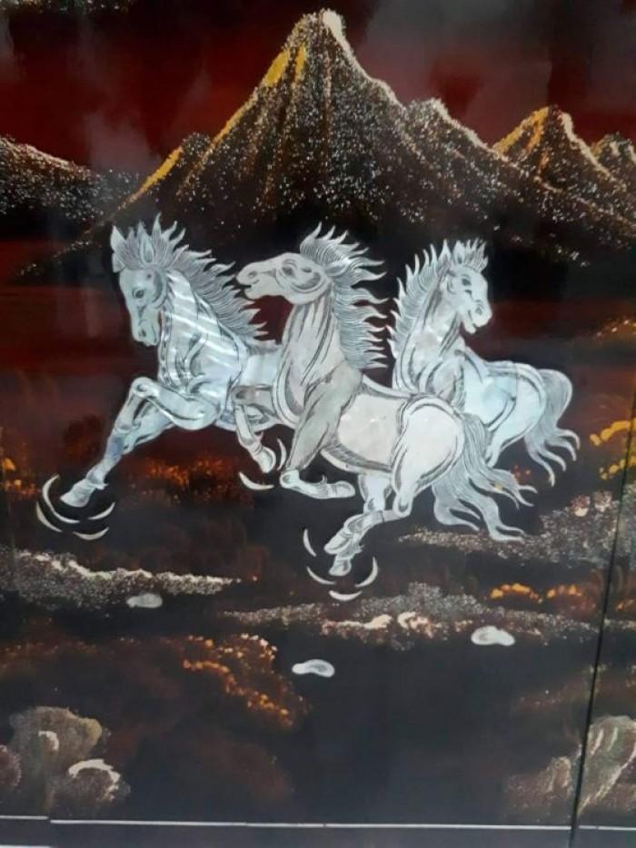 tranh sơn mài khảm trai Mã Đáo Thành Công còn đẹp 95%6