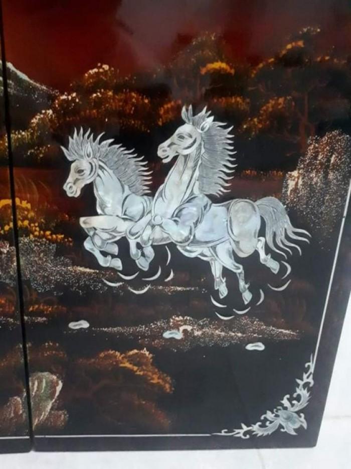 tranh sơn mài khảm trai Mã Đáo Thành Công còn đẹp 95%3