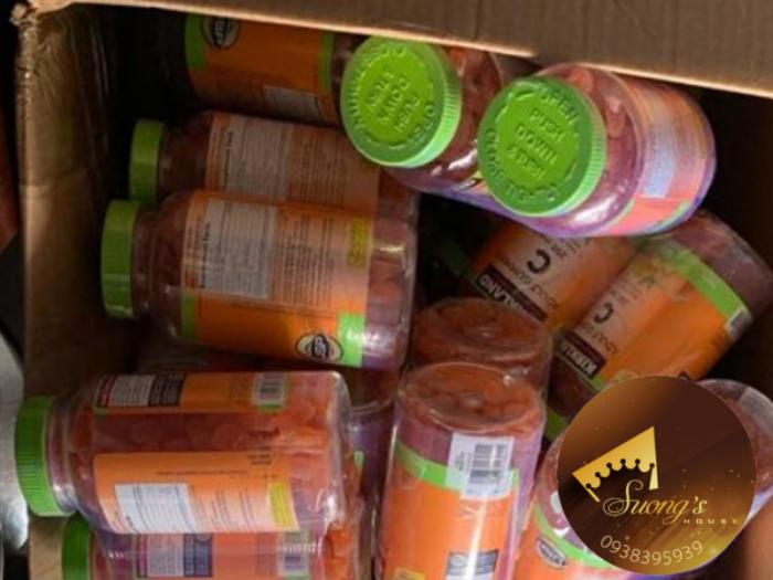 Kẹo Dẻo trái cây Bổ Sung Vitamin C Kirkland Adult Gummies C 250mg (180viên)4