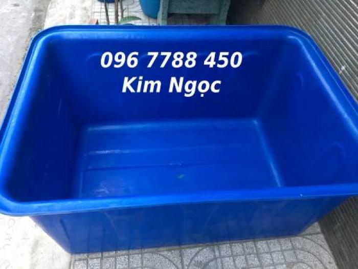 Bán thùng nhựa nuôi cá 1100 lít chữ nhật giá rẻ toàn quốc3
