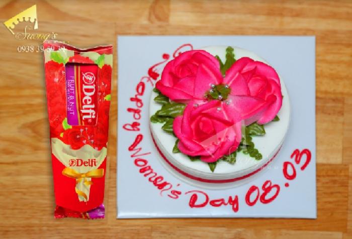 Bánh kem Hoa hồng 8/3 Socola Thụy Sĩ - Suong's House0