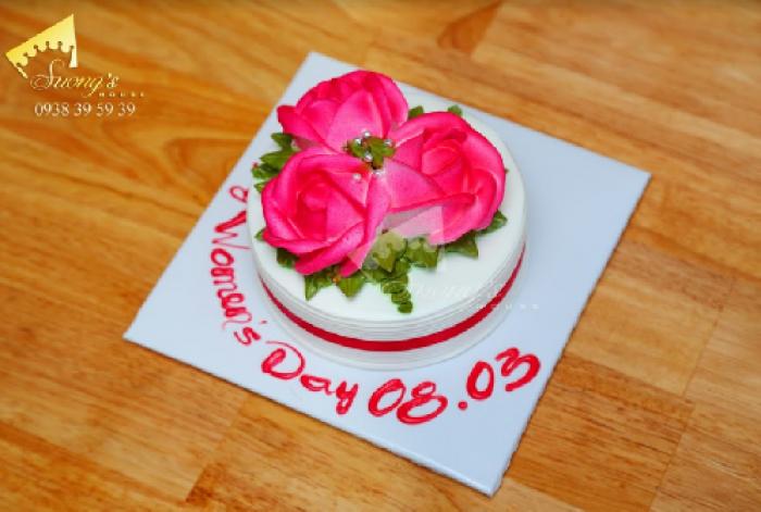 Bánh kem Hoa hồng 8/3 Socola Thụy Sĩ - Suong's House1
