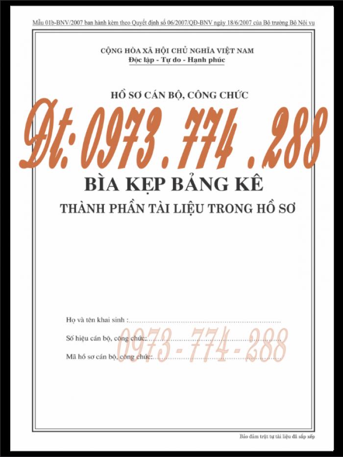 Bìa kẹp nghị quyết, quyết định về nhân sự theo thông tư số 07/2019/TT-BNV ngày 01/6/201912