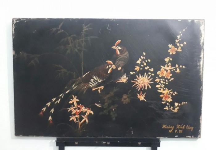 tranh sơn khắc xưa kích thước 50x79cm0