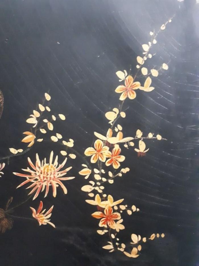 tranh sơn khắc xưa kích thước 50x79cm3