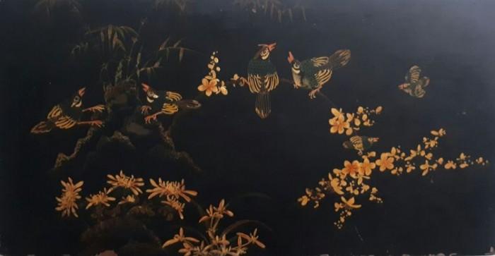 Tranh sơn khắc xưa kích thước 50x98cm0