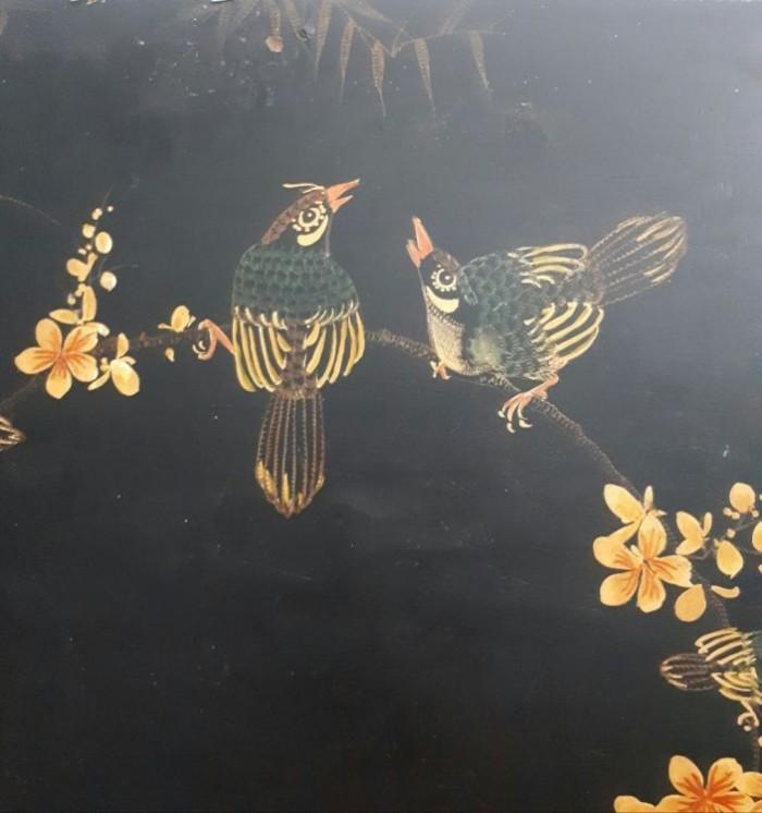Tranh sơn khắc xưa kích thước 50x98cm2