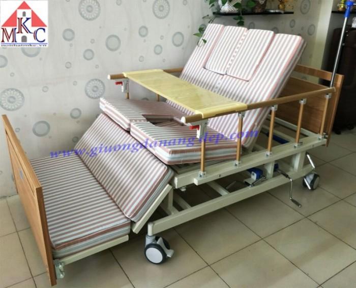 Giường bệnh đa năng MKC-Medical 4 tay quay 12 chức năng, ốp gỗ5