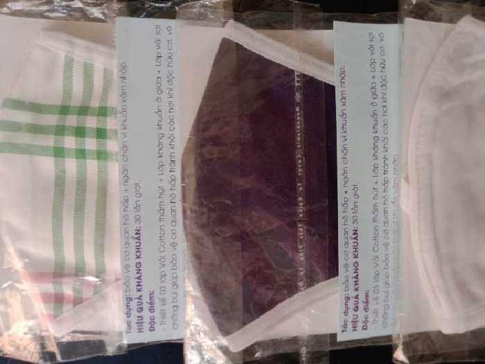 Khẩu trang vải ba lớp - Kháng khuẩn2