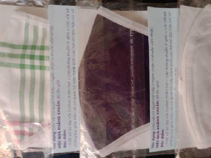 Khẩu trang vải ba lớp kháng khuẩn tốt1