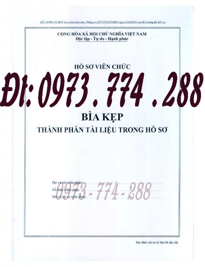 Bìa kẹp nhận xét đánh giá đơn thư Mẫu HS09b-VC/BNV1