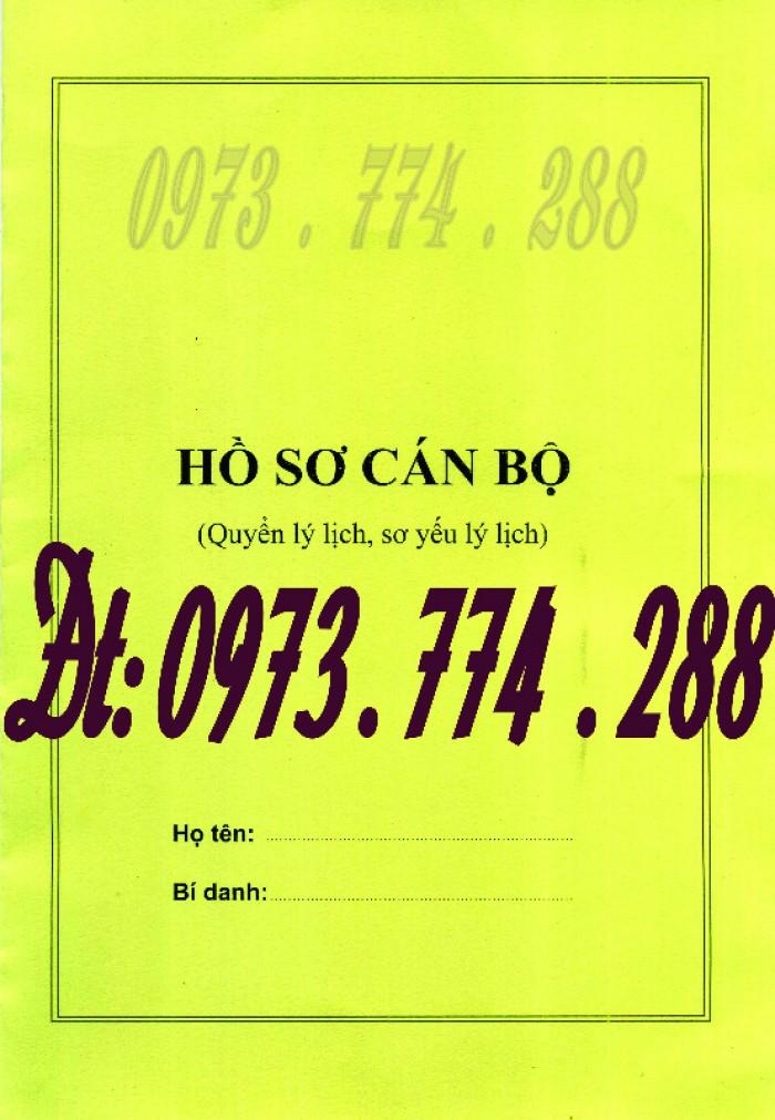 Bìa kẹp nhận xét đánh giá đơn thư Mẫu HS09b-VC/BNV6