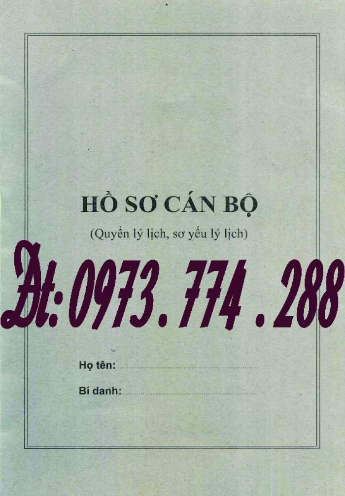Bìa kẹp nhận xét đánh giá đơn thư Mẫu HS09b-VC/BNV7