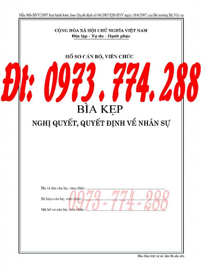 Bìa kẹp nhận xét đánh giá đơn thư Mẫu HS09b-VC/BNV9