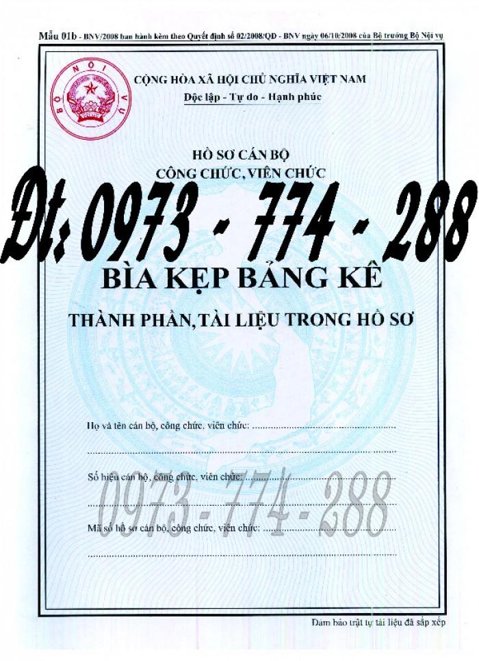 Bìa kẹp nhận xét đánh giá đơn thư Mẫu HS09b-VC/BNV15