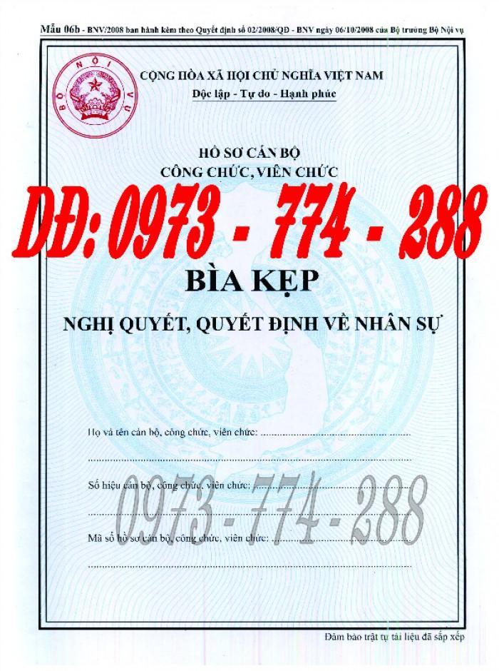 Bìa kẹp nhận xét đánh giá đơn thư Mẫu HS09b-VC/BNV16