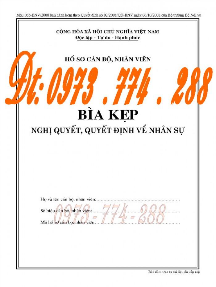 Bìa kẹp nhận xét đánh giá đơn thư Mẫu HS09b-VC/BNV19