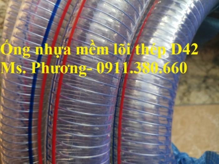 Ống nhựa mềm lõi thép D42, 50m/cuộn- hàng có sẵn kho0