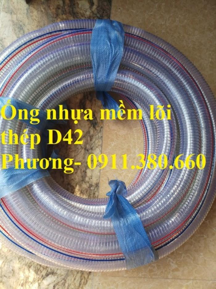Ống nhựa mềm lõi thép D42, 50m/cuộn- hàng có sẵn kho3