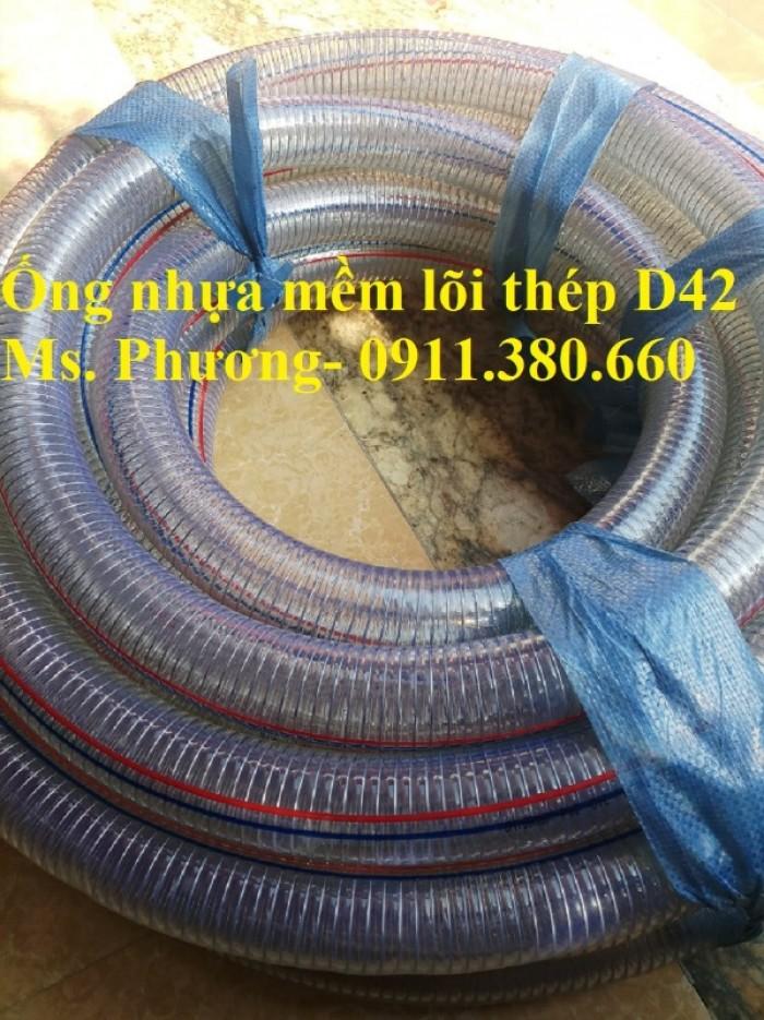 Ống nhựa mềm lõi thép D42, 50m/cuộn- hàng có sẵn kho4
