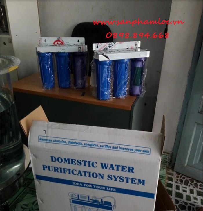 Bộ ba cốc lọc nước sinh hoạt nhựa PP 10 inch0