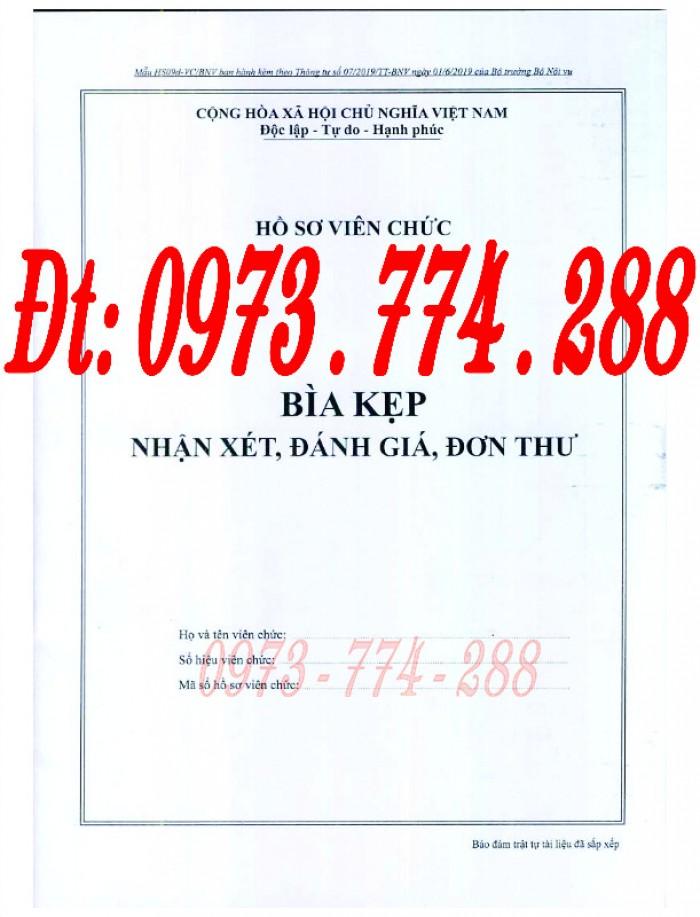 Bìa kẹp thành phần tài liệu trong hồ sơ - Hồ sơ viên chức1