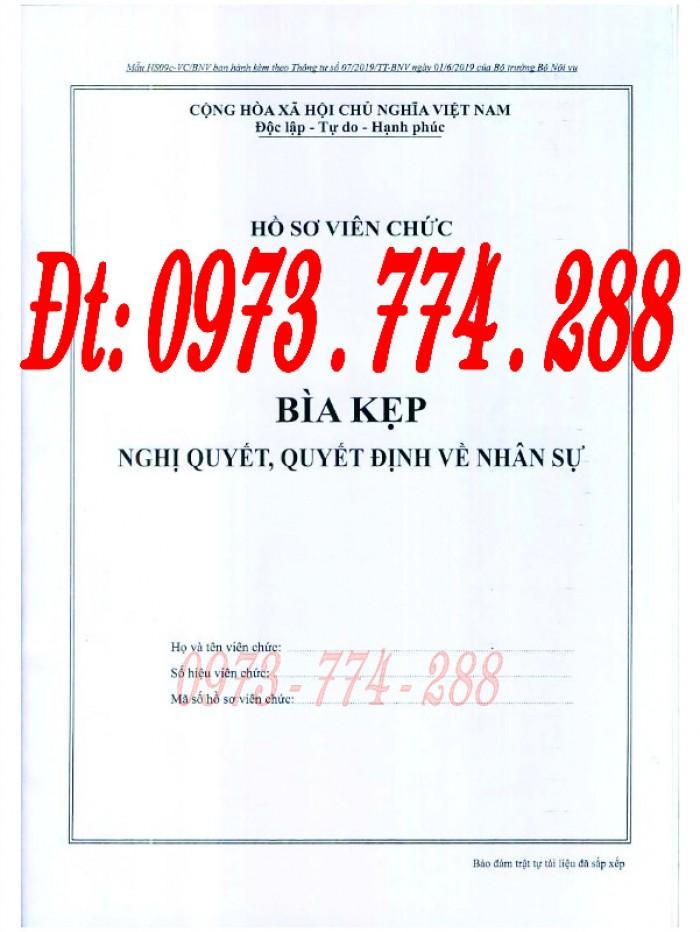Bìa kẹp thành phần tài liệu trong hồ sơ - Hồ sơ viên chức2
