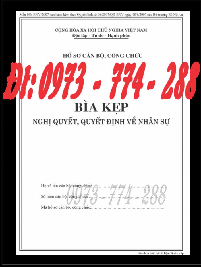 Bìa kẹp thành phần tài liệu trong hồ sơ - Hồ sơ viên chức5