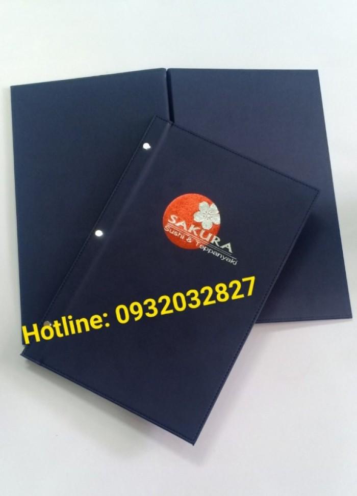 Xưởng sản xuất bìa menu, bìa còng, sản xuất bìa menu bắt vít, bìa menu da giá rẻ,1