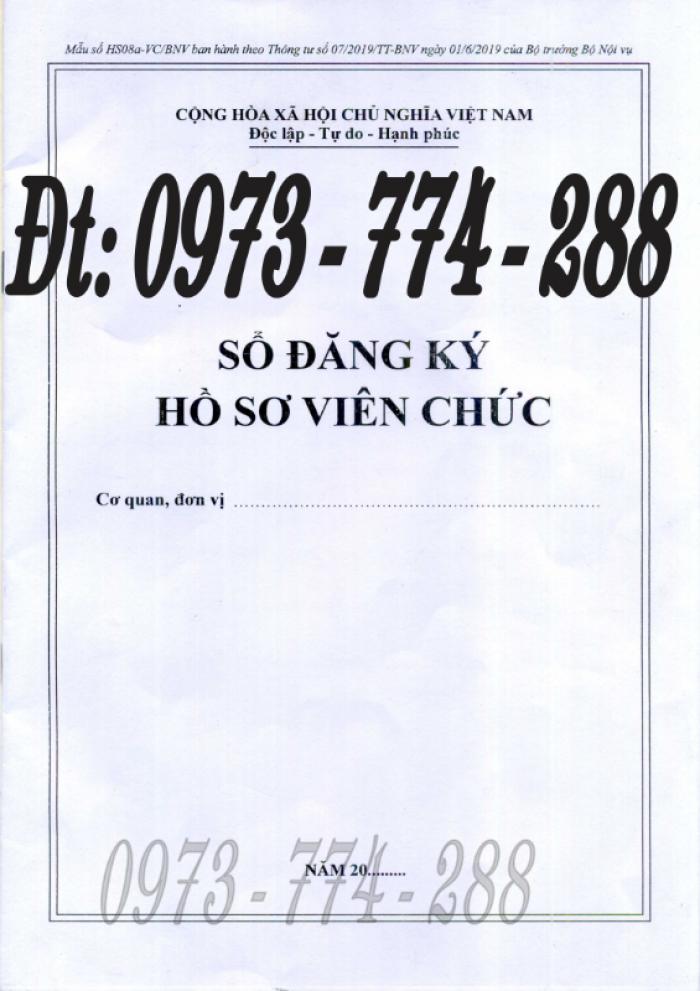 Sổ đăng ký hồ sơ viên chức0