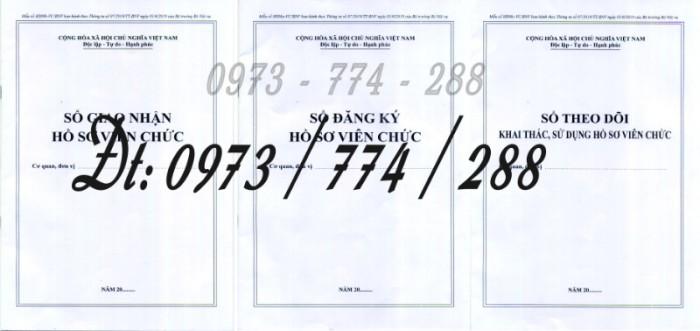 Bán 3 sổ đăng ký hồ sơ viên chức, sổ giao nhận hồ sơ, sổ theo dõi khai thác, sử dụng hồ sơ viên chức0