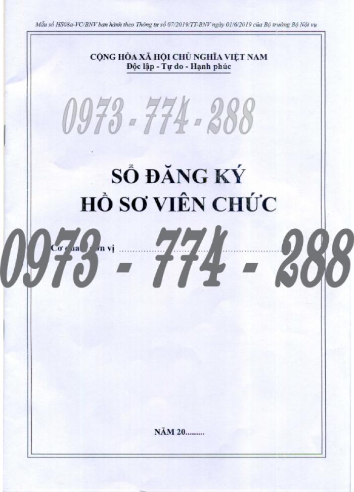 Bán 3 sổ đăng ký hồ sơ viên chức, sổ giao nhận hồ sơ, sổ theo dõi khai thác, sử dụng hồ sơ viên chức1