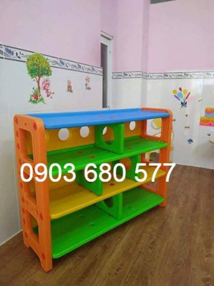 Chuyên cung cấp kệ nhựa mầm non cho trẻ em giá rẻ, chất lượng cao9