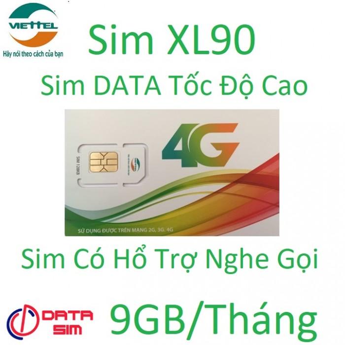 Sim 4G viettel 9GB tốc độ cao có hổ trợ nghe gọi0