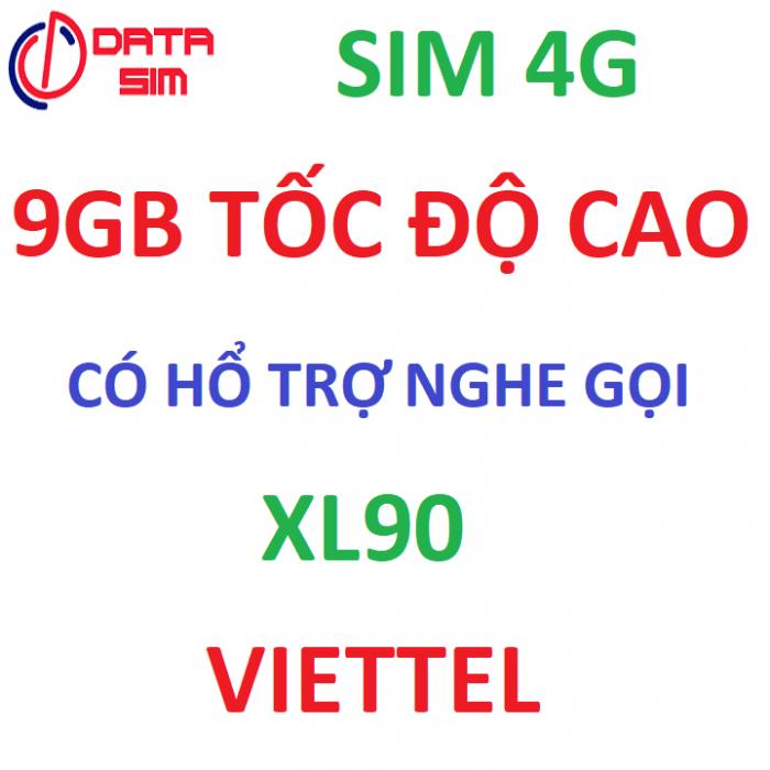 Sim 4G viettel 9GB tốc độ cao có hổ trợ nghe gọi1