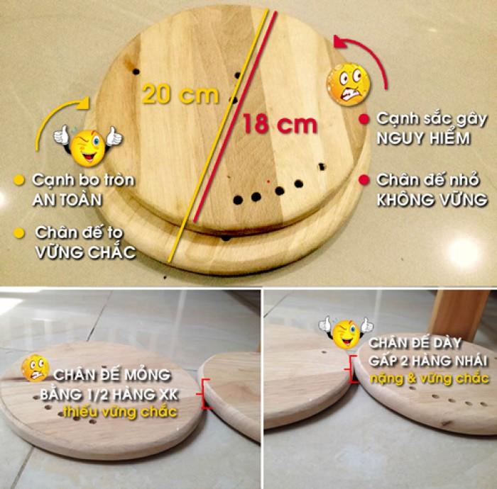 Cách phân biệt Cũi 3d không đạt chuẩn xuất khẩu: chân để tròn không bo tròn cạnh viền xung quanh và mỏng/nhỏ hơn2