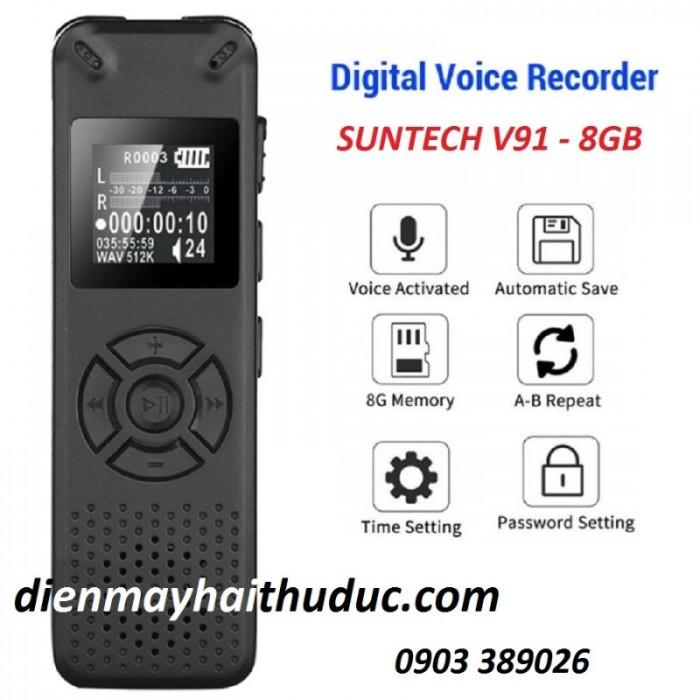 Máy ghi âm Siêu nhỏ Suntech V91-8GB Ghi âm tốt trong điều kiện âm thanh nhỏ, xa. 0