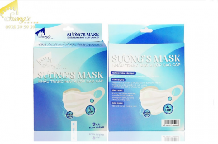 Khẩu trang vải kháng khuẩn Suong Mask -127