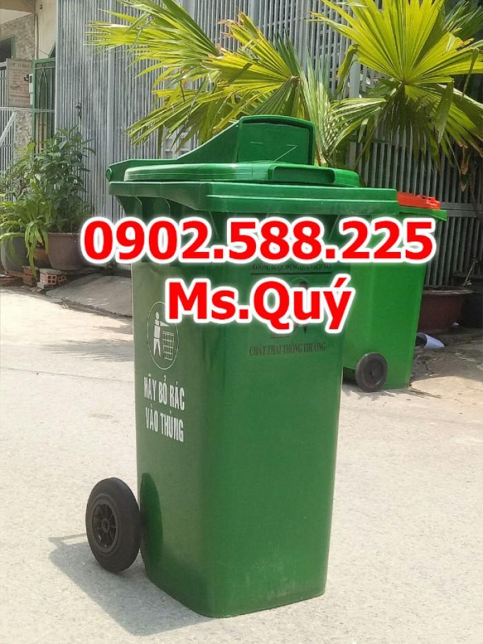Thùng rác công cộng 240l, giá thùng rác 120l3
