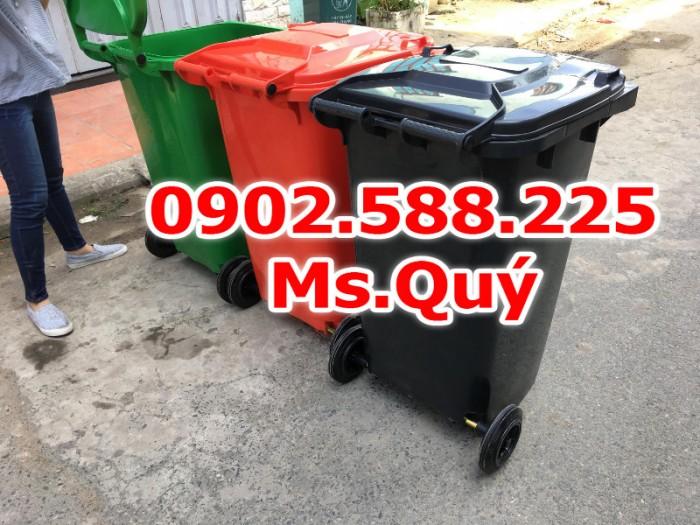 Thùng rác công cộng 240l, giá thùng rác 120l1