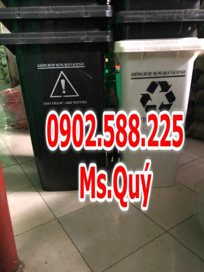 Thùng rác công cộng 240l, giá thùng rác 120l2