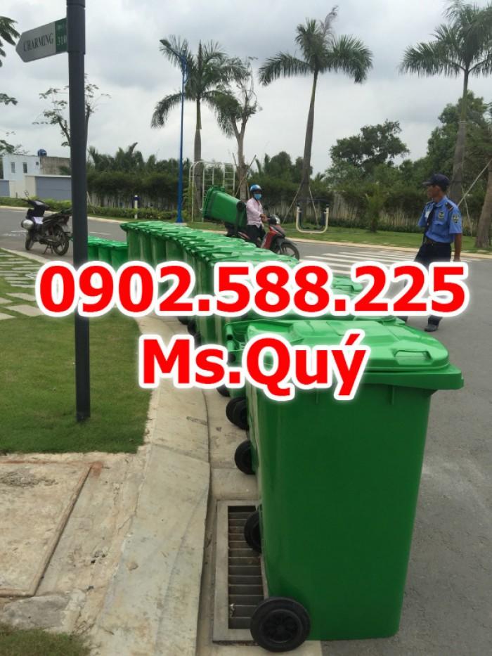 Thùng rác công cộng 240l, giá thùng rác 120l4