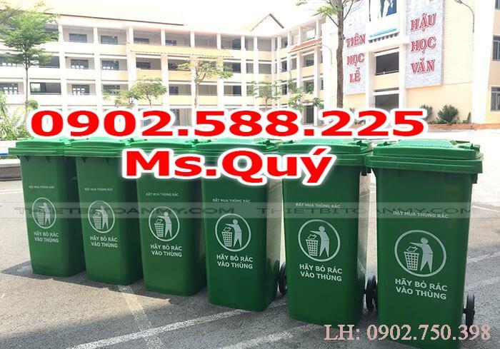 Thùng rác công cộng 240l, giá thùng rác 120l5