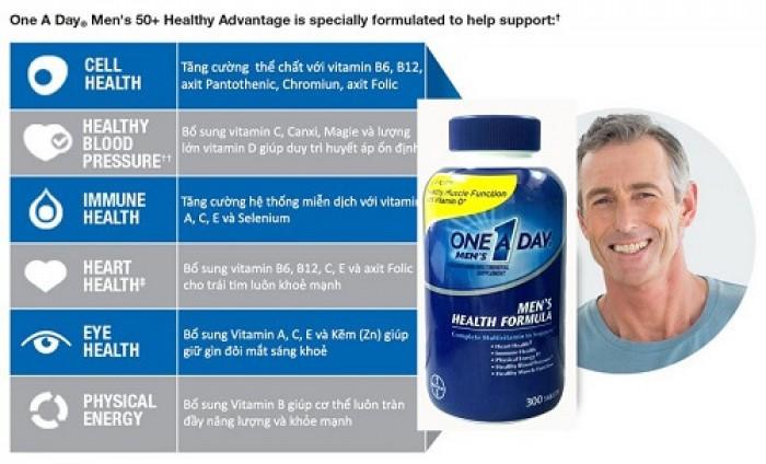 Vitamin Tổng Hợp Cho Nam One A Day Men's Multivitamin Health Formula3
