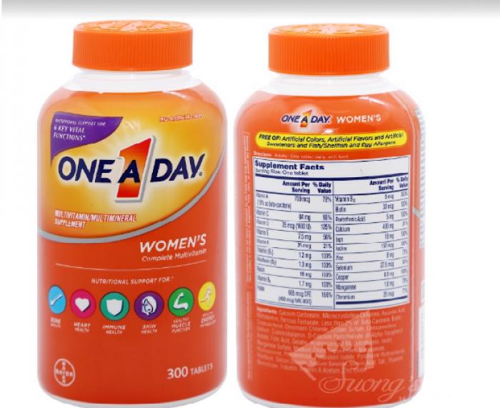 Vitamin Tổng Hợp Cho Nữ One A Day Women's Formula -Hàng Mỹ xách tay -Suong House 3