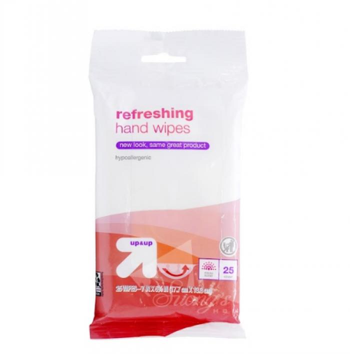 Khăn ướt diệt khuẩn Mỹ refreshing hand wipes2