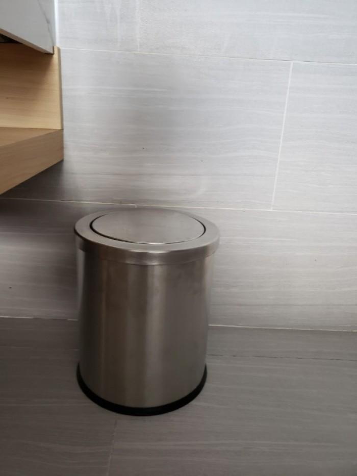 Thùng rác inox phòng tắm khách sạn - Dụng cụ nhà hàng khách sạn Thiên An3