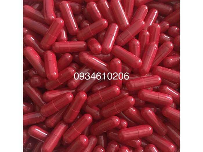 1000 vỏ nang rỗng gelatin màu đỏ size 00