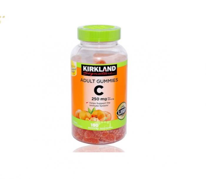 Kẹo dẻo trái cây Mỹ kirkland bổ sung Vitamin C Kirkland Adult Gummies C1